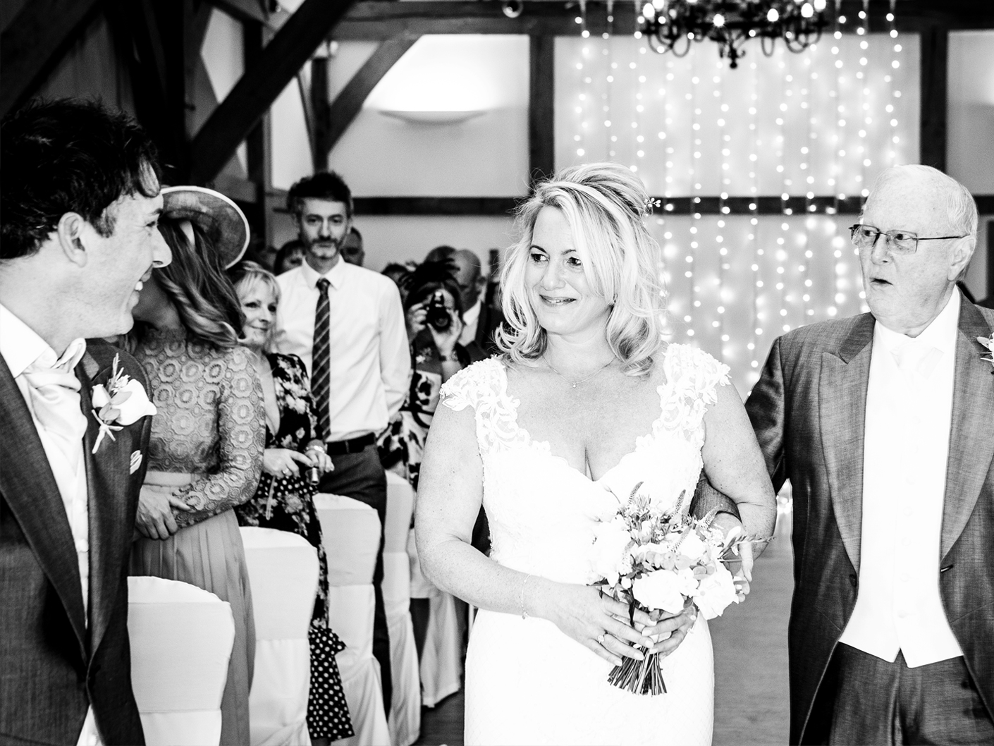 photography-of-the-bride-at-the-wedding-ceremony-at-Sandhole-Oak-Barn-Congleton-Cheshire