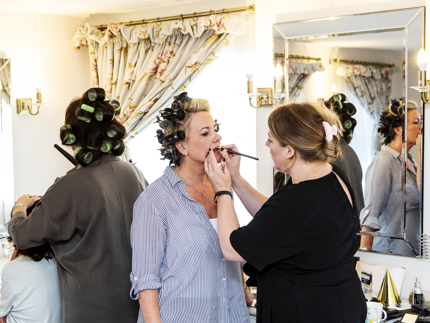 photography-of-the-bride-getting-ready-for-the-wedding-ceremony-at-Sandhole-Oak-Barn-Cheshire