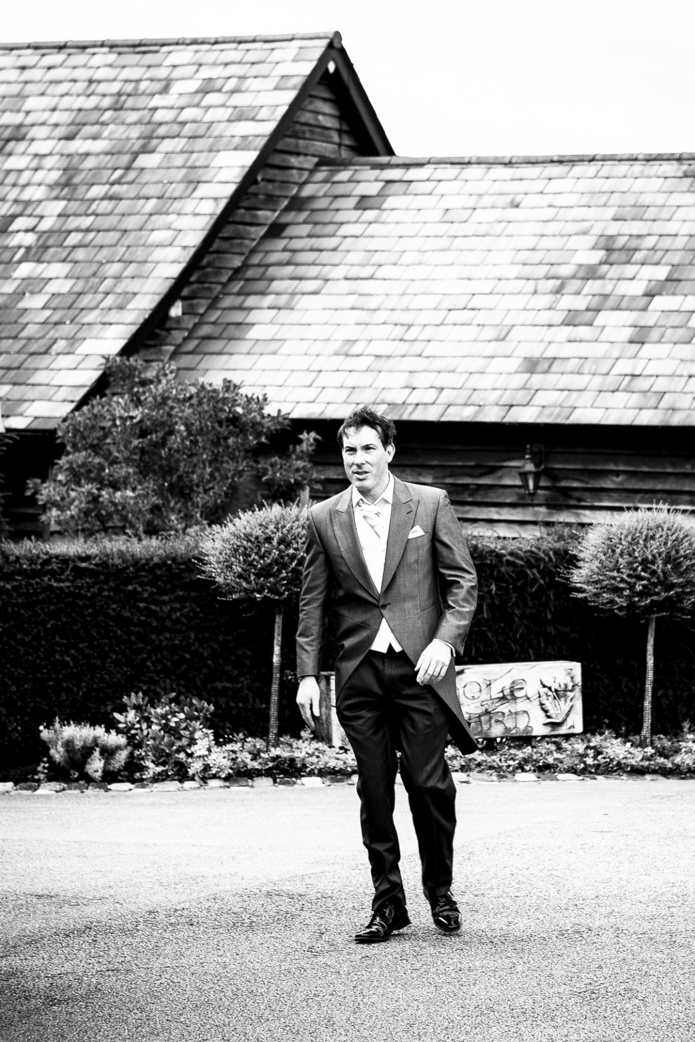 wedding photography-of-the-groom-at-The-wedding-venue-Sandhole-Oak-Barn-Congleton-Cheshire