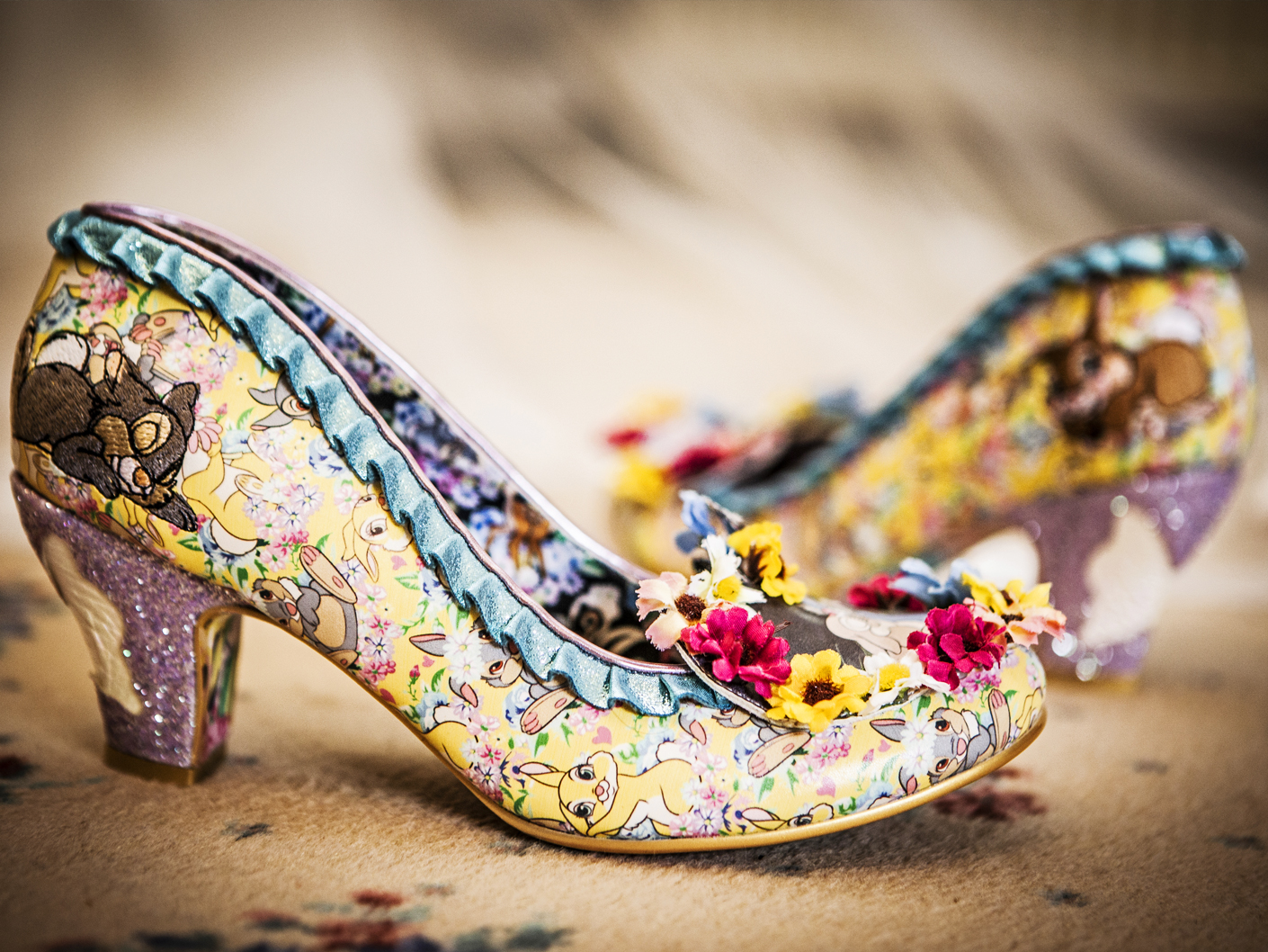 wedding-photography-of-the-brides-shoes-at-nunsmere-hall-cheshire