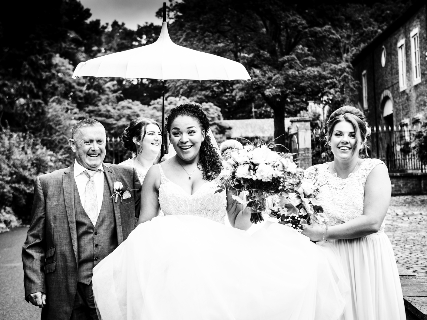 the-bride-on-her-way-to-the-adlington-hall-wedding-ceremony