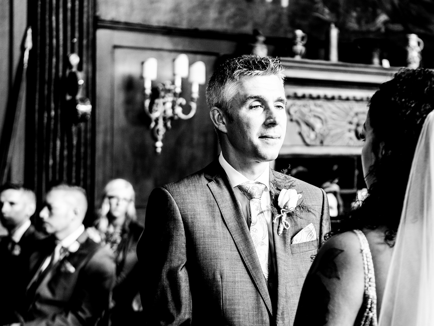 the-groom-at-the-wedding-ceremony-in-adlington-hall-cheshire