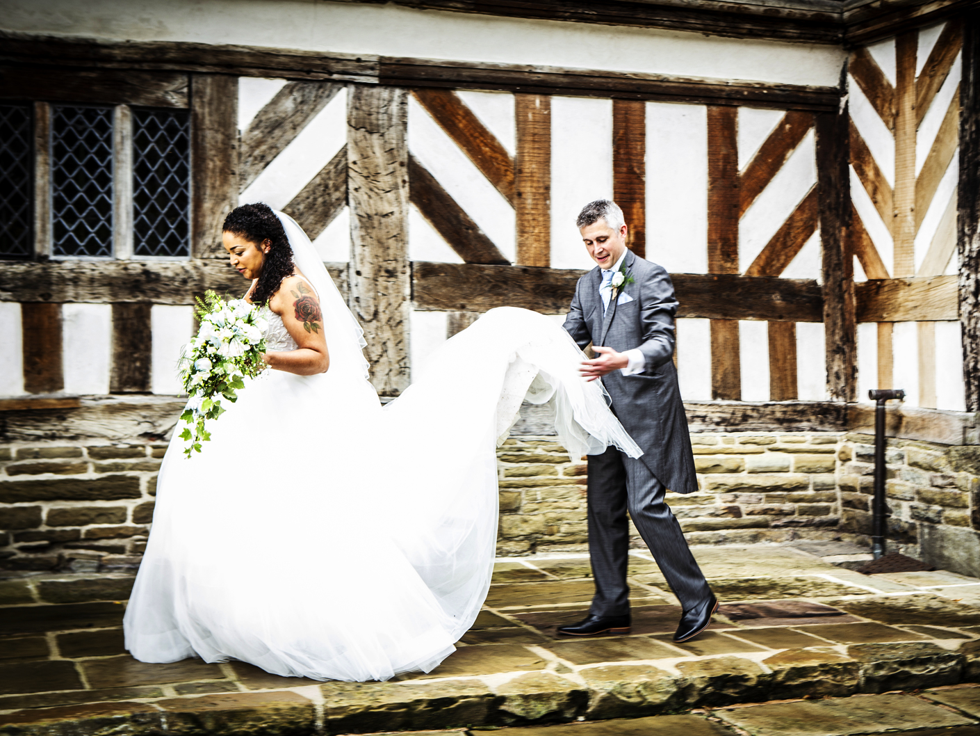wedding-photography-of-the-bride-and-groom-after-the-ceremony-at-adlington-hall-cheshire